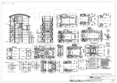 Structure assembly drawing